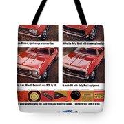 1968 Chevy Camaro Tote Bag