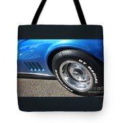 1968 Corvette Sting Ray - Blue - Side - 8923 Tote Bag
