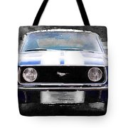 1968 Ford Mustang Front End Watercolor Tote Bag