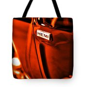 1968 Hemi Dodge Charger Tote Bag