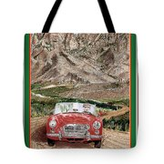 Mountain Rallying In A 1968 M G B  Tote Bag