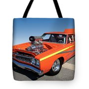1968 Plymouth Road Runner Tote Bag
