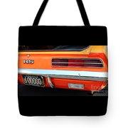 1969 Chevrolet Camaro Rs - Orange - Rear End - 7609 Tote Bag