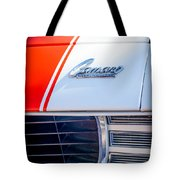 1969 Chevrolet Camaro Rs-ss Indy Pace Car Replica Hood Emblem Tote Bag