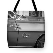 1969 Chevy Camaro Ss 396 Painted Bw Tote Bag
