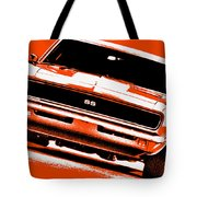 1969 Chevy Camaro Ss - Orange Tote Bag
