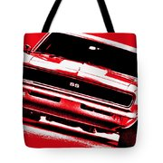 1969 Chevy Camaro Ss - Red Tote Bag