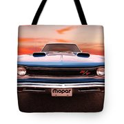 1969 Dodge Coronet R/t In B5 Blue Tote Bag