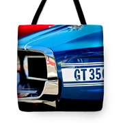 1969 Ford Mustang Shelby Gt350 Grille Emblem Tote Bag