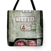 1969 Toyota Fj-40 Land Cruiser Taillight Emblem -0417ac Tote Bag