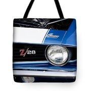 1969 Z28 Camaro Real Muscle Car Tote Bag