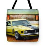 1970 Boss 302 Mustang Tote Bag