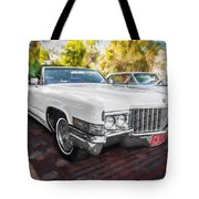 1970 Cadillac Coupe Deville Convertible Painted  Tote Bag