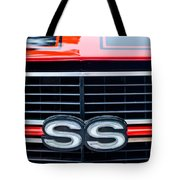 1970 Chevrolet Chevelle Ss 454 Grille Emblem Tote Bag by Jill Reger