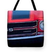 1970 Chevrolet El Camino Ss Grille Emblem Tote Bag