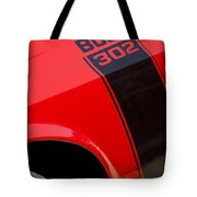 1970 Ford Mustang Sportsroof Boss 302 Emblem Tote Bag