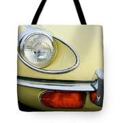 1970 Jaguar Xk Type-e Headlight Tote Bag
