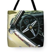1970 Jaguar Xk Type-e Steering Wheel Tote Bag