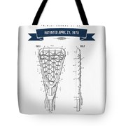 1970 Lacrosse Stick Patent Drawing - Retro Navy Blue Tote Bag