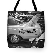 1970 Plymouth Road Runner Hemi Super Bird Bw Tote Bag