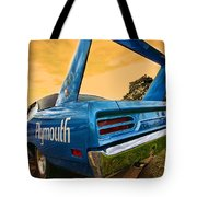 1970 Plymouth Road Runner Superbird Tote Bag