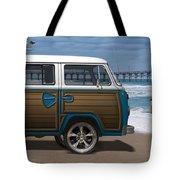 1970 Vw Bus Woody Tote Bag