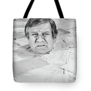 1970s Distressed Man Up To His Neck Tote Bag