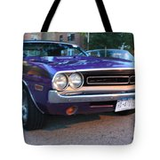 1971 Challenger Front And Side View Tote Bag