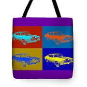 1971 Chevrolet Chevelle Ss Pop Art Tote Bag