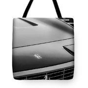 1971 Ferrari 365 Gtc-4 Grille Emblem -1541bw Tote Bag