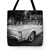 1971 Lincoln Continental Mark IIi Painted Bw   Tote Bag