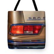 1971 Mercedes-benz 280se 3.5 Cabriolet Taillight Emblem Tote Bag