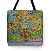 1971 Original Map Of The Magic Kingdom Tote Bag