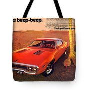 1971 Plymouth Road Runner Tote Bag