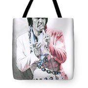 1971 Turquoise Concho Suit Tote Bag