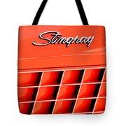 1972 Chevrolet Corvette Stingray Emblem 3 Tote Bag