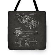 1972 Chris Craft Boat Patent Artwork - Gray Tote Bag