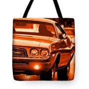 1972 Dodge Challenger In Orange Tote Bag