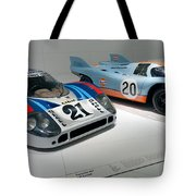 1972 Porsche 917 Lh Coupe And 1970 Porsche 917 Kh Coupe Tote Bag