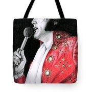1972 Red Pinwheel Suit Tote Bag