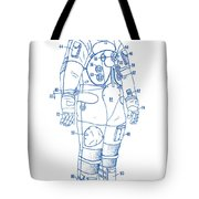 1973 Nasa Astronaut Space Suit Patent Art 2 Tote Bag