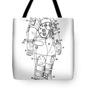 1973 Nasa Astronaut Space Suit Patent Art 3 Tote Bag
