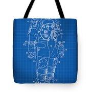 1973 Nasa Astronaut Space Suit Patent Art Tote Bag