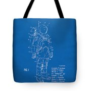 1973 Space Suit Patent Inventors Artwork - Blueprint Tote Bag by Nikki Marie Smith