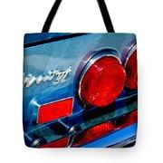 1974 Ferrari Dino Targa Gts Taillight Emblem Tote Bag