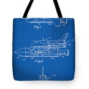 1975 Nasa Space Shuttle Patent Art 1 Tote Bag