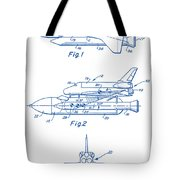 1975 Nasa Space Shuttle Patent Art 2 Tote Bag