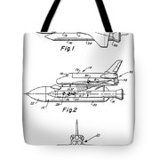 1975 Nasa Space Shuttle Patent Art 3 Tote Bag