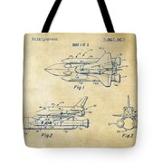 1975 Space Shuttle Patent - Vintage Tote Bag