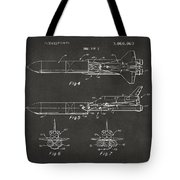 1975 Space Vehicle Patent - Gray Tote Bag
